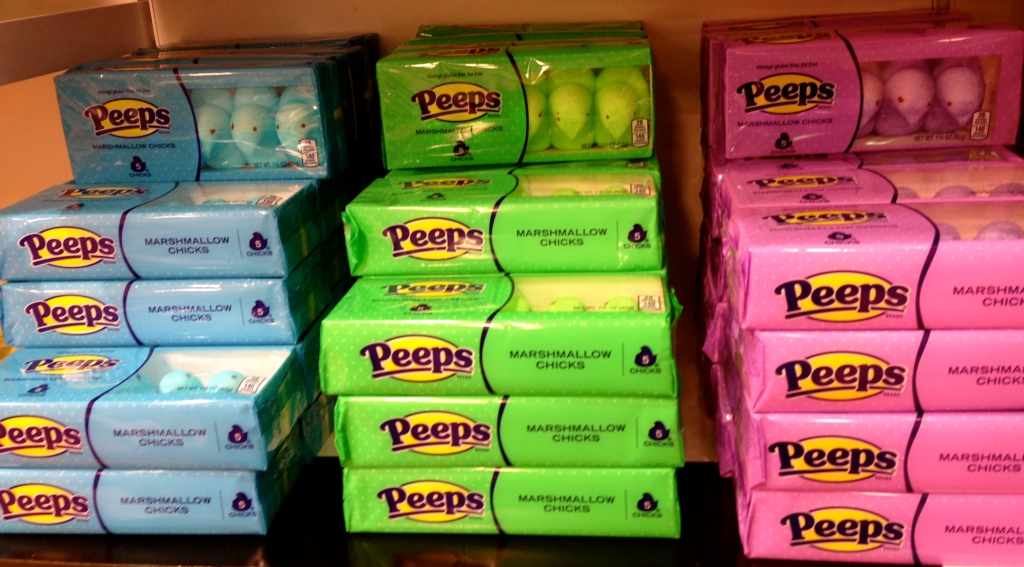 Boxes of Peeps
